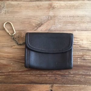 Coach Vintage leather Wallet With Key Fob.